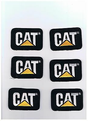 CAT tractor lot of 6 caterpillar patches