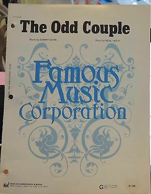 The Odd Couple - 1968 US Sheet Music