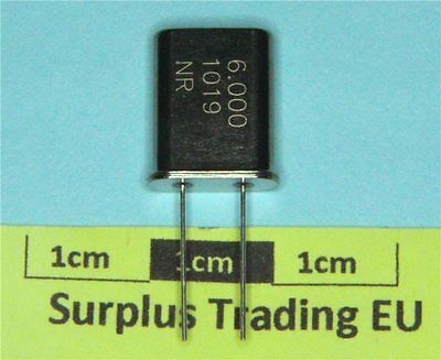 LFXTAL003127, Crystal 6.000MHz, ±20ppm, 2-Pin HC49 (Pk of 2)