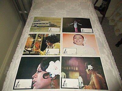 Lady sings the blues- Diana Ross lobby cards-near complete set-2, 3, 4, 5, 6 8