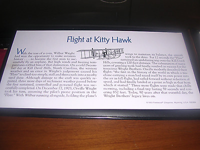 Kitty Hawk First Day Coin/stamp Cover-$10 Marshall Islands Commemorative C