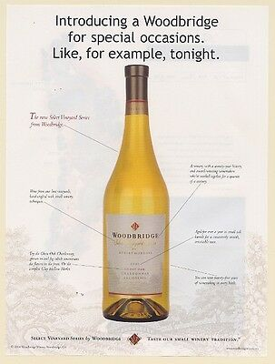 2004 Woodbridge Ghost Oak Chardonnay Wine for Special Occasions Print Ad