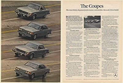 1978 Mercedes-Benz Coupes 450SL 300CD 450SLC 280CE Coupe 2-Page Print Ad