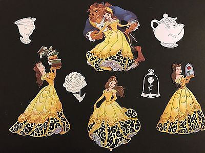 Selection Of Disney Themed Beauty And The Beast Die Cut Toppers