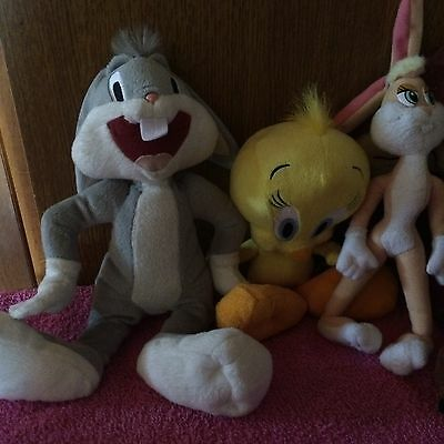 LOONEY TUNES  PLUSH OFFICIAL WARNER BROS SOFT TOYS Bundle Of 6 Some Rare