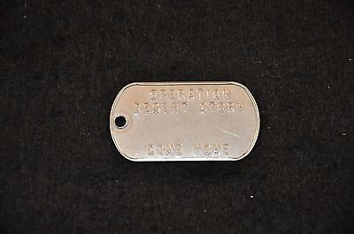 First Gulf War 'Operation Desert Storm Come Home' home front dog tag; scarce