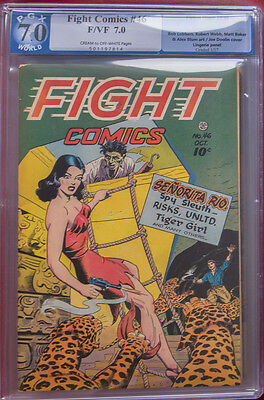 FIGHT COMICS 46 PGX not CGC 7.0 CLASSIC SENORITA RIO Cover!