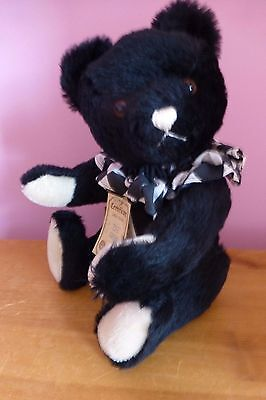 Hermann black collectors bear with neck ruffle.  LIMITED EDITION