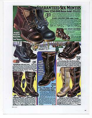 """WARD'S MENS BOOTS AD, Repro 1930's Advertisement Art For Framing 7.75"""" x 10"""""""