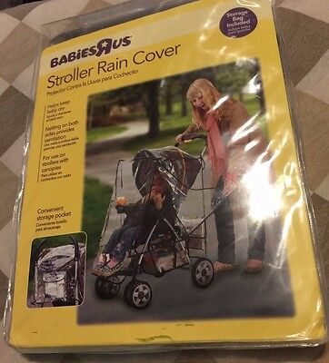 Stroller Rain Cover by Babies R Us- Storage Bag Included