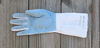 Used Blue Gauntlet Fencing Glove ~ White - Size S
