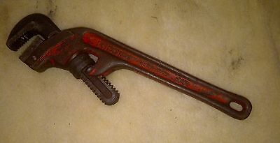 """RIDGID E12 Heavy Duty Pipe Wrench 12"""" USED and SHOWS PAINT WEAR"""