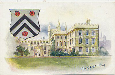 C5712     1910 Postcard Oxford University New College View