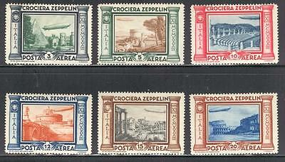"RC_15_272  KINGDOM - 1933 ""CROCIERA ZEPPELIN"" air mail set. MNH"