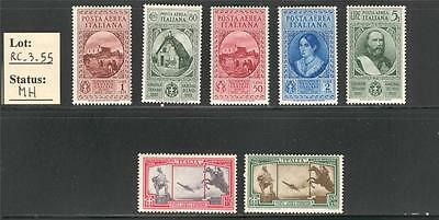 "RC_3_55. REGNO. 1932 ""CINQUANT. MORTE GARIBALDI""air mail set. Mint. Great CV !"