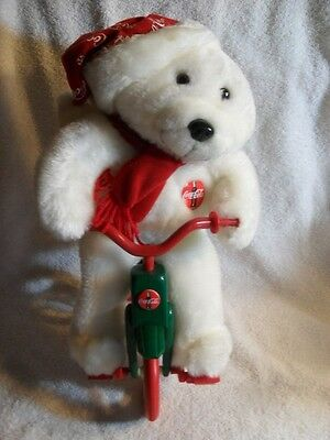 Coca Cola Polar Bear On Tricycle Plush - Animation Collection - 1998