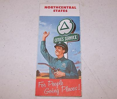 1958 Cities Service Northcentral States Map