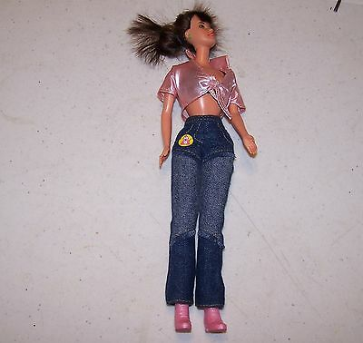 Cute Barbie Doll in Jeans and Halter Top