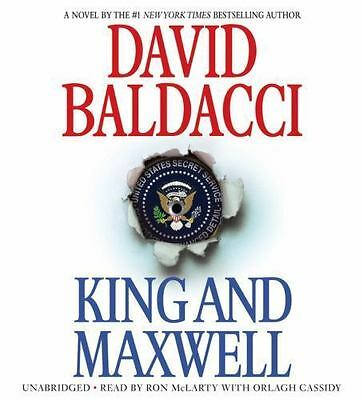 New Audio Book KING & MAXWELL by David Baldacci Abridged on 6 CDs Great Story