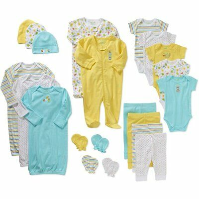 21 Piece Newborn Unisex Infant Clothes Set 0-3 Months Baby Shower Gift Lot NEW
