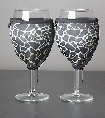 Giraffe wine glass coolers x 2