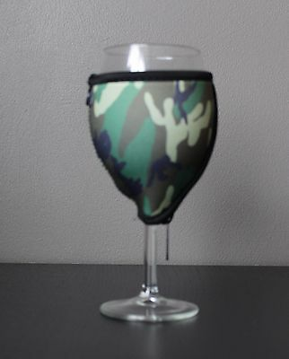 Camouflage wine glass cooler x 1