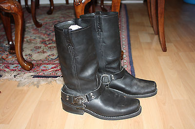 Rare Mens Vintage Harley Davidson Boots, with Eagle harness. Size 10