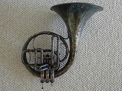 Gorgeous Old Antique French Horn - C G Conn Made in Elkhart Ind and New York