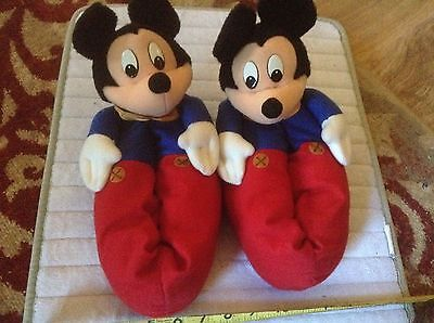 Mickey Mousr Slippers - New -Adult S (6 1/2 - 7)