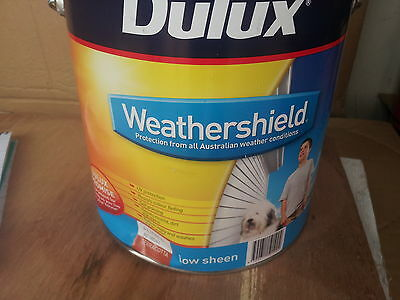 Dulux 4 Litre Weathershield  Exterior  Low/sheen Teracotta Colour Paint