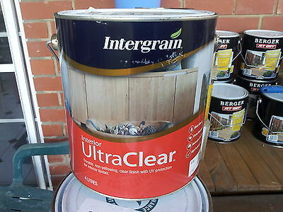 Intergrain By Dulux 4 Litre Ultra-Clear Interior Gloss Water/base Clear Colour