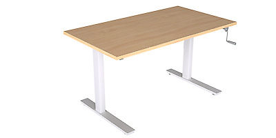 Ready 2 Go Manual Height Adjustable Sit/Stand E-DESK - Assorted Colours