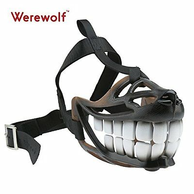 Dog Muzzle Adjustable Breathable Safety Medium Size Dog Smile Biting Barking