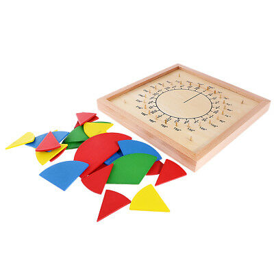Montessori Fraction Division Board Wooden Toy Children Educational Math Toys