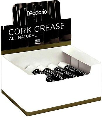 D'Addario Woodwinds All Natural Cork Grease - Box of 12 Tubes