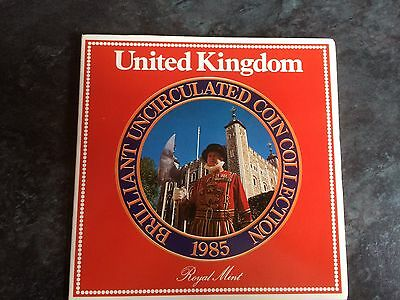 Royal Mint United Kingdom Brilliant Uncirculated Coin Collection 1985 VGC