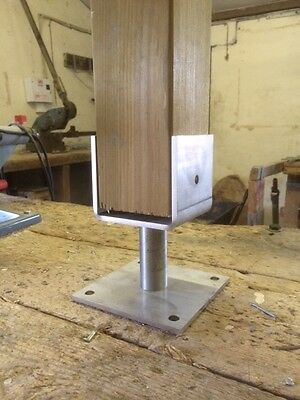 Stainless Steel Timber Fence Post Shoe Post Support for 100 x 100mm Square Posts