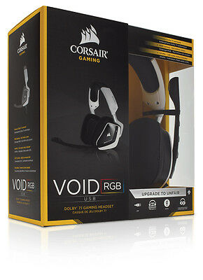 Corsair Gaming VOID RGB Dolby BIANCO Cuffie Gaming USB Dolby 7.1 con Microfono