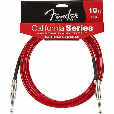 Fender Fender - California Cable 3m CAR Candy Apple Red