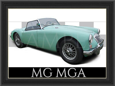 Mg Mga Car  Poster  Print  Picture  Art New Green