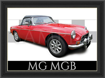 Mg Mgb Car  Poster  Print  Picture  Art New