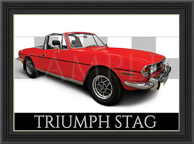 Triumph Stag Car  Poster  Print  Picture  Art New