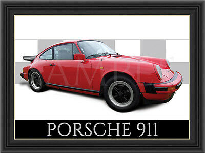 Porsche 911 Car  Poster  Print  Picture  Art New
