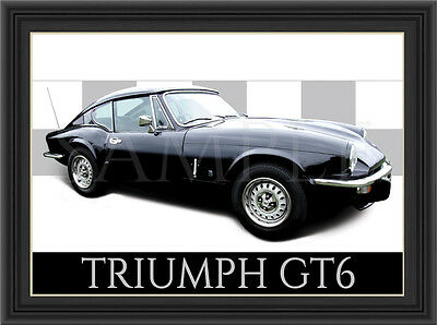 Triumph Gt6 Car  Poster  Print  Picture  Art New