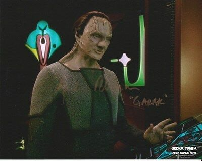 Andrew Robinson Star Trek Ds9 Hand Signed Autographed Photo Uacc Rd 288