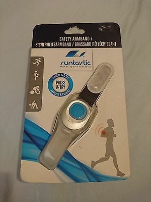 Genuine Official Runtastic Reflector Safety Armband with LED Flashing Light