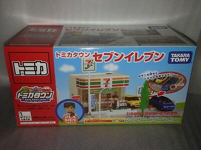 Tomy Takara Tomica Town Scene Seven Eleven 7-11 Japan w Plakids Limited RARE