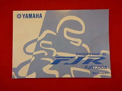 Genuine 2006 Yamaha Fjr1300A Fjr 1300 A Owners Manual 3P6-28199-E1 2007