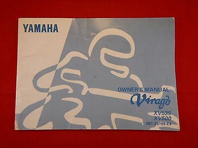 Genuine 1997 1998 Yamaha Virago Xv535 Xv500 Owners Manual 3Bt-28199-E4 Handbook