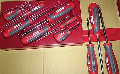 Sidchrome Brand New 10 piece Ergonomic Screwdriver Set with Tool Chest Tray